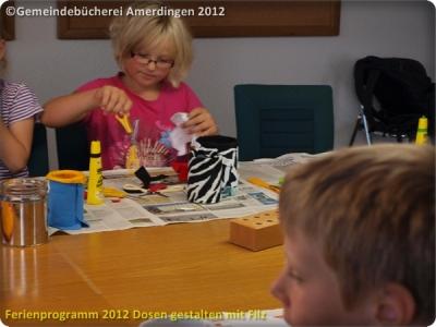Ferienprogramm 2012 Dosen gestalten mit Filz_15