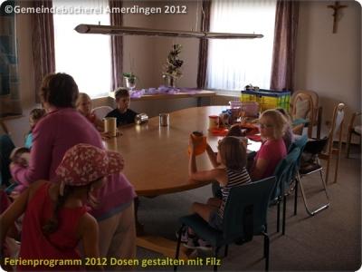 Ferienprogramm 2012 Dosen gestalten mit Filz_1