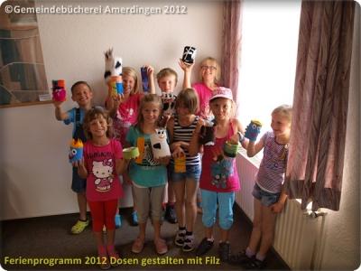 Ferienprogramm 2012 Dosen gestalten mit Filz_24