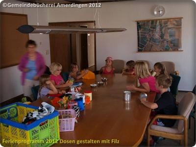 Ferienprogramm 2012 Dosen gestalten mit Filz_2