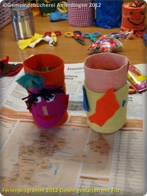 Ferienprogramm 2012 Dosen gestalten mit Filz_32