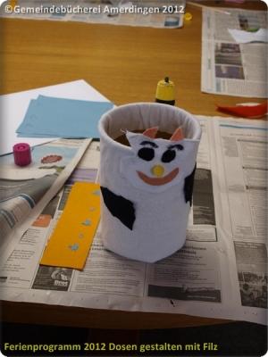 Ferienprogramm 2012 Dosen gestalten mit Filz_33