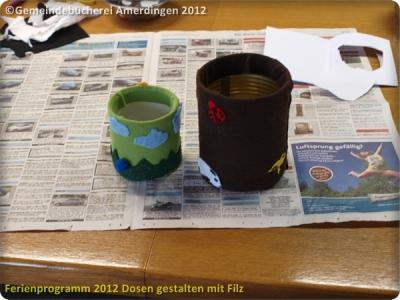 Ferienprogramm 2012 Dosen gestalten mit Filz_36