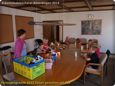 Ferienprogramm 2012 Dosen gestalten mit Filz_3