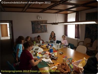 Ferienprogramm 2012 Dosen gestalten mit Filz_44