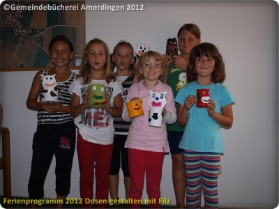 Ferienprogramm 2012 Dosen gestalten mit Filz_62