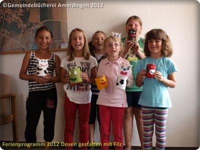 Ferienprogramm 2012 Dosen gestalten mit Filz_63