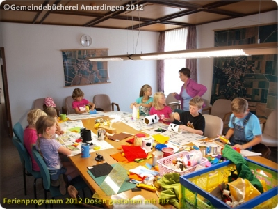 Ferienprogramm 2012 Dosen gestalten mit Filz_6